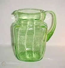 depression glass madrid green square