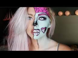 pop art zombie makeup tutorial