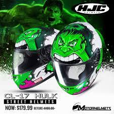 The Hjc Cl 17 Hulk Street Helmets Helmet Hulk Hjc Helmets