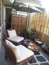 My Personal Balcony Retreat With Reed Privacy Screen Balcony Decor Small Apartment Patio Apartment Balcony Garden