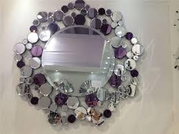 china hand craft crystal wall mirror