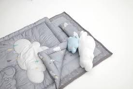 rainy cloud 3 piece crib bedding set