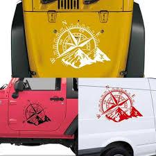 1pc 3d 4x4 Car Sticker Compass Rose Navigate Mountain For Jeep F150 Hood Compass Wrangler Vinyl Sticker Car Decal 50x60cm Car Stickers Aliexpress