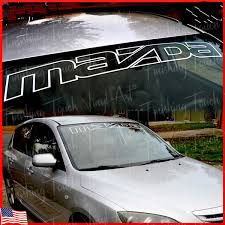 Mazda Sticker Windshield Banner Oracal Custom Car Graphic Front Or Rear Window Wish