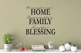 Custom Removable Homefamily And Blessing Wall Decal Free Etsy Vinyl Wall Decal Quote Vinyl Wall Art Vinyl Wall Art Decals