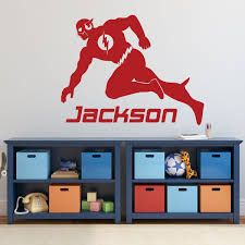The Flash Superhero Decorations Vinyl Decor Wall Decal Customvinyldecor Com
