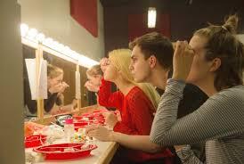 chorus apply their makeup