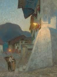 Adrian Scott Stokes, R.A. (1855-1927)   Twilight at Gruyeres ...