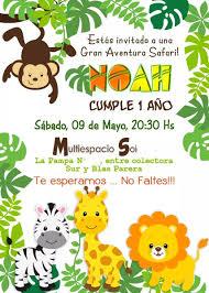 Invitaciones Digitales Personalizadas Whatsapp Selva Safari S 7