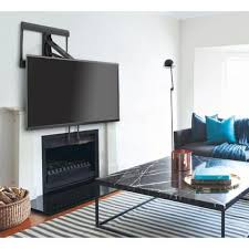 above fireplace pull down tv wall mount