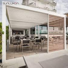 motorized louvre roof outdoor balcony