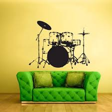 Drum Bass Wall Decal Drum Wall Sticker Music Wall Decal Music Etsy