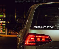 Spacex Logo Vinyl Decal Car Window Bumper Sticker Space Etsy