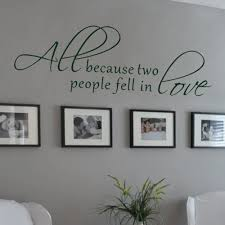 All Because Two People Fell In Love Wall Decal Love Words Expressions Sayings Quotes Vinyl Lettering 20 X 62 L Vinyl Lettering Wall Decalsquote Wall Decal Aliexpress