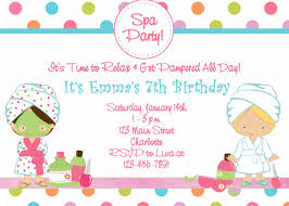 Free Printable Spa Birthday Party Invitations Fiesta Spa Spa De