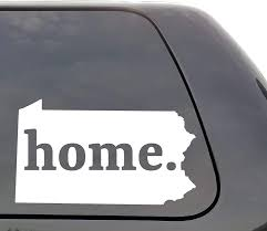 Amazon Com Pennsylvania Decal Pennsylvania Pa Decal Home Decal State Decal Car Decals Yeti Decal Laptop Decal State Love Window Decal Vinyl Wall Window Door Car Truck Home Kitchen