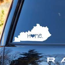Kentucky Home Decal Kentucky State Decal Homestate Decals Love Sticker Love Decal Car Decal Car Stick Personalized Vinyl Decal Kentucky Car Decals