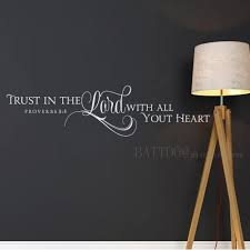 Amazon Com Battoo Trust In The Lord With All Your Heart Scripture Wall Decal Christian Wall Art Bible Verse Decal Vinyl Lettering 22 W By 5 5 H White Furniture Decor