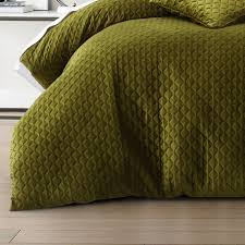 alden quilt cover set olive green