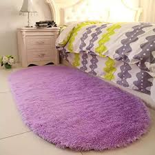 Amazon Com Purple Area Rugs For Girls Room Soft Fluffy Rugs For Kids Bedroom Nursery Decor Mats 2 6 X5 3 Home Kitchen