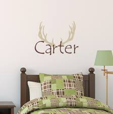 Elk Antlers Personalized Name Wall Decal Boys Hunting Bedroom Applicable Stickers Kids Custom Name Vinyl Hunter Art Designsyy304 Name Wall Decals Wall Decalsstickers Kids Aliexpress