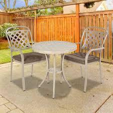 stratford metal round garden bistro set
