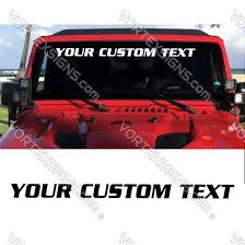 Car Pickup Suv Truck Windshield Custom Text Decals Stickers