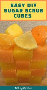 easy diy sugar scrub cubes with orange