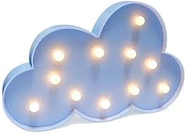 3d Cloud Lamp Sign Night Light Children S Bedroom Home Decorate Nursery Lamp Led Wall Lamp Kids Room Decor Blue Amazon Com