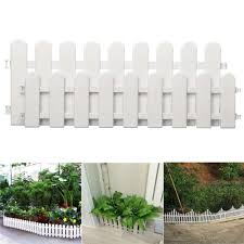 Home Garden 24pcs Plastic Garden Fence Border Decor Panels Fencing Landscape Picket Edging Fence Panels