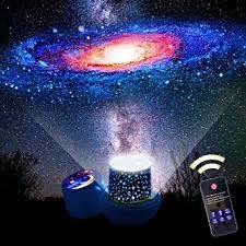 Amazon Com Kistra Remote Star Projector Night Light For Kids Room 6 Films 360 Rotating Led Starry Sky Nightlight With 1 2 Hrs Timer Table Lamp Brightness Color Adjust Best Gifts Xgu 003 Baby