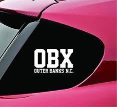 Amazon Com Slap Art Obx Outer Banks North Carolina Vinyl Decal Sticker Automotive