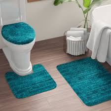 nylon non slip solid bath rug set