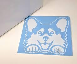 Peekaboo Pup Corgi Peeking Dog Decal Corgi Dog Sticker For Car Dog Groomer Mug Cup Tumbler Pup Corgi Mom Dog Vi Dog Decals Dog Stickers Boo The Dog