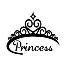 5 4 Princess Vinyl Decal Sticker Car Window Laptop Crown Tiara Queen Royal Ebay