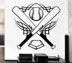 Baseball Vinyl Wall Stickers Bat Sports Ball Great Decor For Boys Room Wall Decal 3d Poster Removable Wallpaper Mural Sa825 Aliexpress