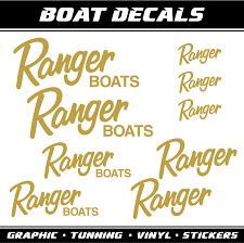 Piktograffer Ranger Boats Decals Stickers 9x Marine Sailboat Fishing Nautical Vinyl Decal