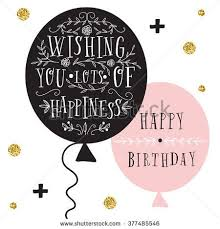 birthday quotes stock vector hand lettering birthday greeting
