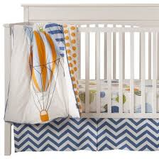 hot air balloon 3pc crib bedding set