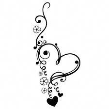 Heart Flowers Vinyl Decal Sticker For Car Truck Window Laptop Bottle Mac Decor Overtheshouldertattoos Neck Tattoo Tattoos Maori Tattoo