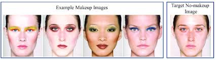 we take multiple makeup images as the
