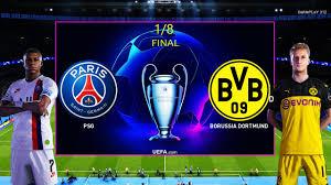 PES 2020 - PSG vs Borussia Dortmund - UEFA Champions League 1/8 ...
