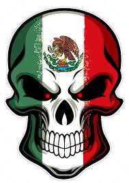 Amazon Com Nostalgia Decals Mexican Skull Large Truck Back Window Decal 18 In The United States Automotive