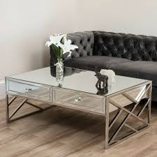 evelyn mirror 4 drawer coffee table