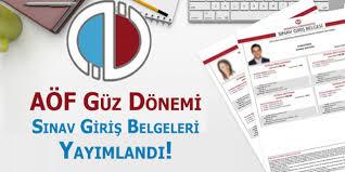 AÖF Güz Dönemi Ara Sınav Giriş Belgeleri Yayımlandı! 2018-2019
