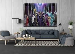 Wall Art Canvas Print 1 Panel Overlord Animation Characters Poster Modern Living Room Or Bedroom Home Decor Framed Or Frameless Painting Calligraphy Aliexpress