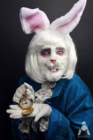 white rabbit alice in wonderland makeup