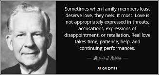 marvin j ashton quote sometimes when family members least