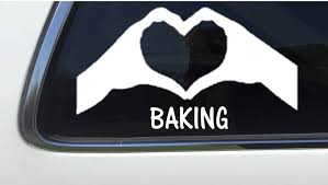 Amazon Com Thatlilcabin Baking Heart Hands As213 8 Sticker Baking Decal Arts Crafts Sewing