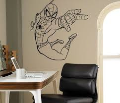 Spider Man Wall Decal Comics Vinyl Sticker Superhero Art Decor Etsy In 2020 Kids Room Wall Art Vinyl Wall Art Spiderman Wall Art